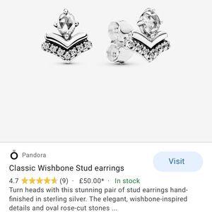 Pandora classic wishbone studs
